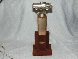 Vintage Metal 2 door Coupe Trophy Topper Hood Ornament Man Cave Racing Cars