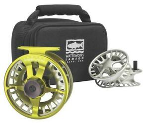 NEW LAMSON REMIX -5+ FLY REEL 3-PACK IN SUBLIME INCLUDES REEL, 2 SPOOLS & CASE