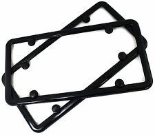 2 Qty Plain BLACK Metal Blank Car License Plate Frame
