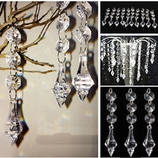 10pcs Acrylic Crystal Beads Chandelier Ceiling Light Pendant Wedding Home Decor