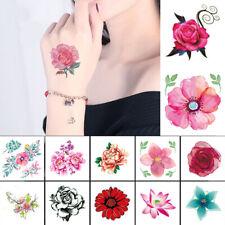 Tattos Red Color Rose Blossom Flower Waterproof Temporary Tattoo Sticker Tatoo@