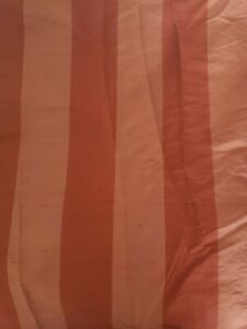 Restoration Hardware Burgundy Silk Organza Shadow Stripe 50x108 Curtain Panel