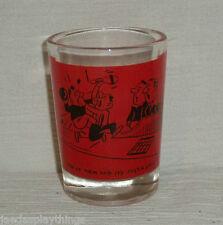 "Bowling Shotglass Shot Glass Vtg 3"" Red Just A Game FREE US Ship"