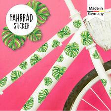 Fahrradaufkleber 32 Stk Monstera Blätter Palme Fahrrad Sticker Kinderfahrrad