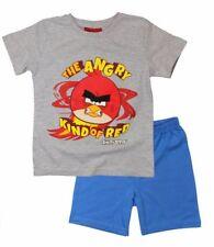 Pijamas y batas rojos conjunto para niño de 2 a 16 años