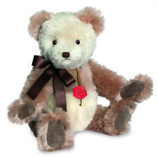 Teddy Hermann 'Nostalgic White & Rose' limited edition mohair teddy bear - 16645