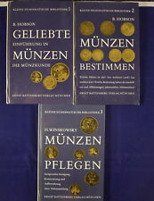 Kleine numismatische bibliothek 1,2,3 small numismatic library set German lang.
