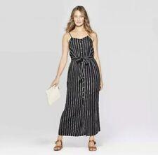 Universal Thread Women's Size XXL Dress Button Down Linen Blend Sleeveless Stipe