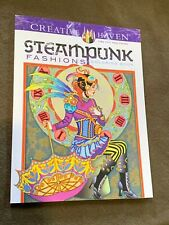 Steampunk Fashions Creative Haven Large Softback Coloring Book NICE