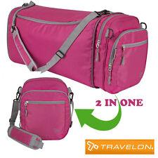 Ladies bag Gym bag for women Pink sport travel bag Crossbody bag converts Duffel