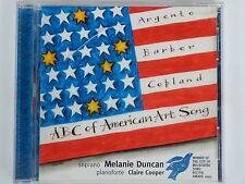 Melanie Duncan - ABC of American Art Song - Scarce OZ CD