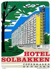 TRAVEL TOURISM HOTEL COPENHAGEN DENMARK ART POSTER PRINT LV4188