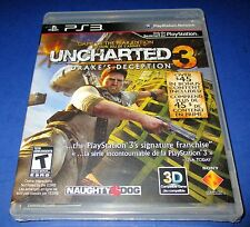 Uncharted 3: Drake's Deception -Game of the Year Edition Sony PlayStation 3 New!