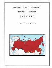 RUSSIA  RSFSR STAMP ALBUM PAGES 1917-1923 (14 illustrated pages ) NO STAMPS.