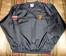 Adult Baltimore Orioles Pull-Over Jacket, Windjacket, Size Large