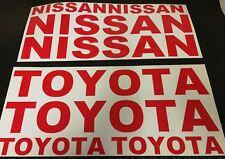NISSAN / TOYOTA STICKER DECALS x4 pk FORKLIFT CAR VAN