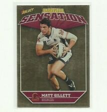 2011 NRL SELECT CHAMPIONS BRONCOS MATT GILLETT ROOKIE SENSATION RS1 CARD