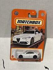 Matchbox 2016 Alfa Romeo Giulia White 47/100 Metal New Mattel 2021
