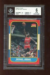 1986 Fleer #57 Michael Jordan BGS 6 RC Rookie