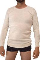 Maglia intimo uomo corpo in misto lana pesante manica lunga intimo invernale