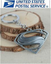 New DC Comic Silver Superman Keychain Keyring Collectible Key chain Key Ring