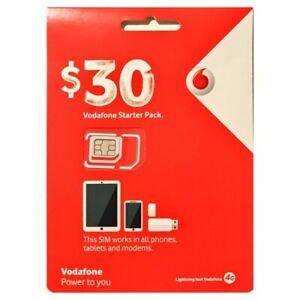 Vodafone Starter Pack - $30 Prepaid SIM