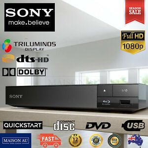 Sony Blu Ray DVD CD Disc Player Triluminous Full HD USB Quickstart 7.1ch