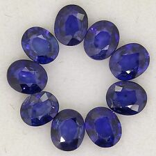 natural blue sapphires matched set 3.63ct 5x4mm genuine loose diamonds gemstones