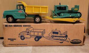 VTG  1950/60'S PRESSED STEEL TONKA GRADING SERVICE NO 834 ORIGINAL BOX CLEAN NR