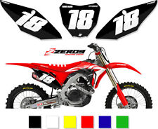 HONDA MOTOCROSS MX BACKGROUNDS NUMBER PLATES  CR/CRF/X 50 85 125 150 250 450