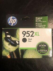NEW Genuine HP 952XL Black Ink Cartridge, High Yield F6U19AN OEM Exp. 2022