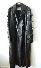 VERSACE Bondage Strap Black Leather Matrix Trench Coat Jacket EU54 / L