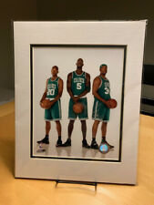 Kevin Garnett, Paul Pierce, Ray Allen Boston Celtics Double Matted 8x10 Photo