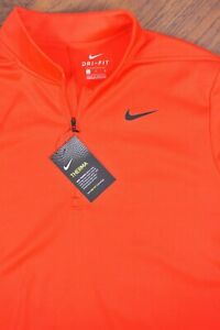 NWT Nike Dri-Fit Essential Therma 1/2 Zip Golf Pullover Red Men's Large L