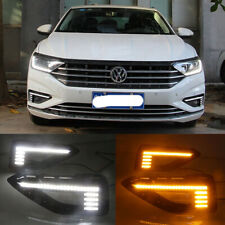 Exact Fit Switchback LED DRL Lights Fog Lamp w/Turn Signals For VW Jetta 2019-up