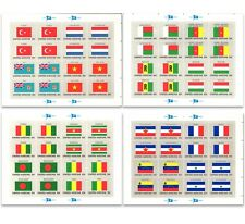 United Nations UNO Flags of 48 Countries 12 Sheetlets of Stamps All Mint MUH