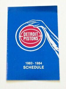 Vintage 1983-1984 Detroit Pistons Pocket Schedule NBA I