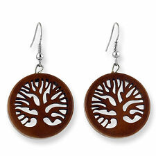 Ohrringe Holz Baum des Lebens Tree Of Life Earrings Design Schmuck ER281