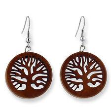 Ohrringe Holz Baum des Lebens Tree Of Life Earrings Design Schmuck ER281