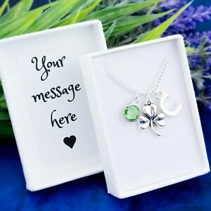 Shamrock Necklace, Personalised Gift, Lucky Charm, Ireland Jewellery, Irish Gift