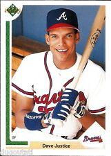 ⚾️ 1991 ~ Upper Deck #363 ~ David Justice ~ Atlanta Braves ~ NrMt=7 ~ QTY