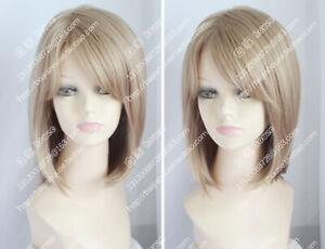 High Quality Wig European American Wig Short Blonde Straight Hair Fashion Wig