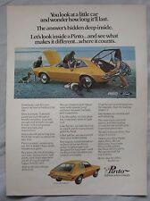 1971 Ford Pinto Original advert