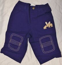 Gymboree Infant Baby Boy Moose Pants Navy Blue Reinforced Knees 3-6 Months
