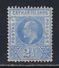Cayman Islands 1905 VF 2½d Blue Edward VII Mult Wmk Dented Frame Variety CV £375