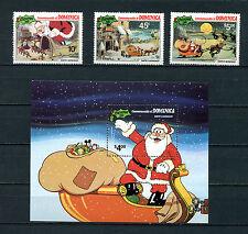 Weihnachtsmarken aus Domenica - Postfrisch **   (E-102)