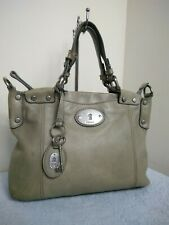 Fossil Vintage Hide Leather Grey Bag Grab Satchel Slouchy Handbag N27