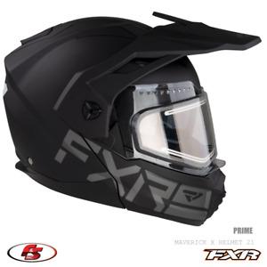 NEW 2021 FXR Maverick X Snowmobile Helmet Electric Shield Prime L LG Large