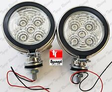 PAIR NEW ROYAL ENFIELD MOTORCYCLE 4 INCH LED CHROME FOG LIGHT SPOTS LAMPS