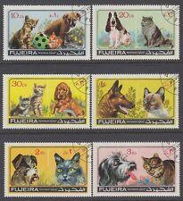 Fujeira 1971 Mi.798/03 A fine used c.t.o. Hunde Katzen Dogs Cats Tiere Animals